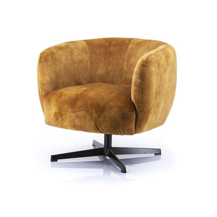 Een leuke draaibare fauteuil