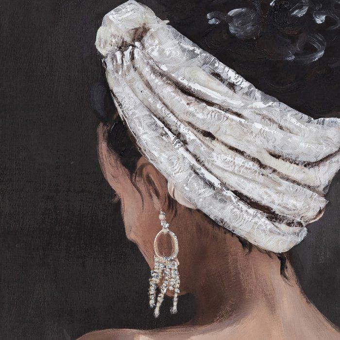 Schilderij back view woman