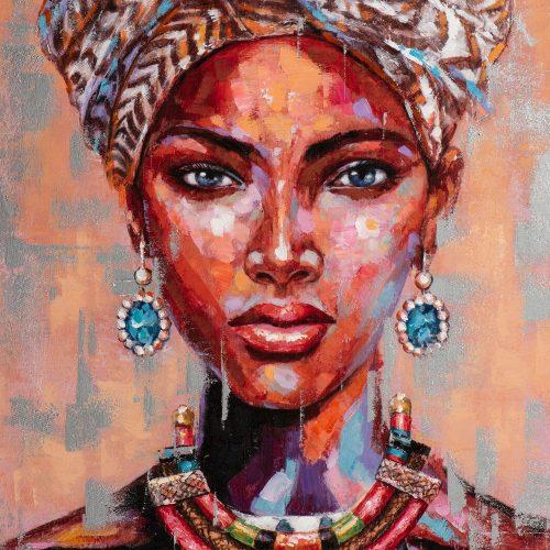 Schilderij Afrikaanse vrouw