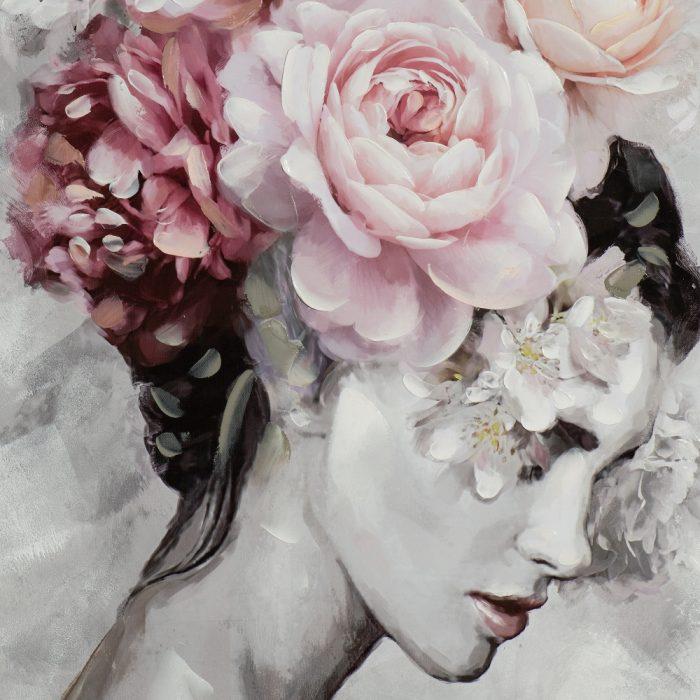 Schilderij Flower lady
