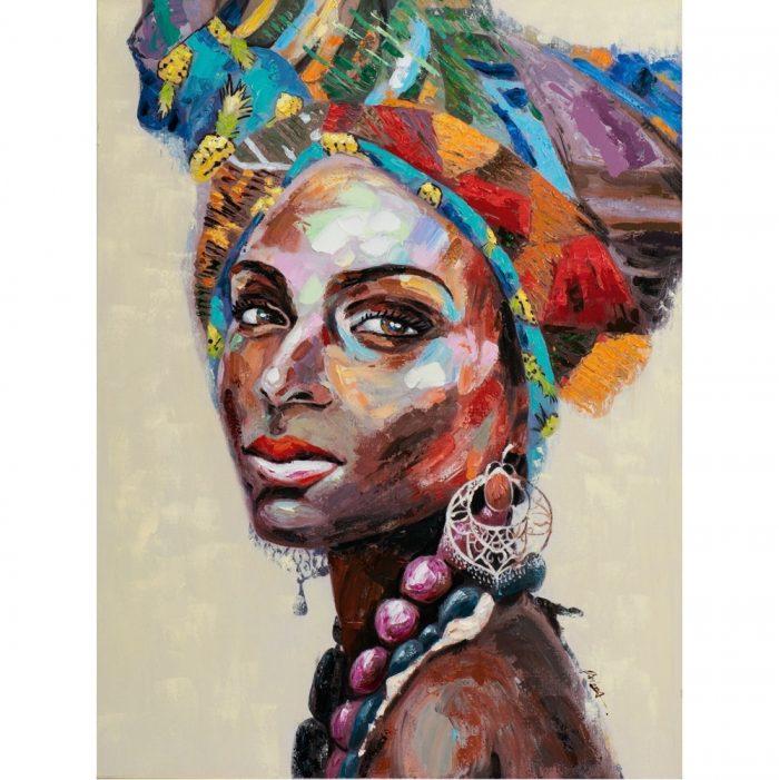 Schilderij cultur woman yellow