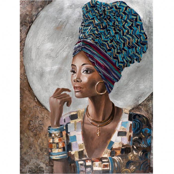 Canvas schilderij vrouw