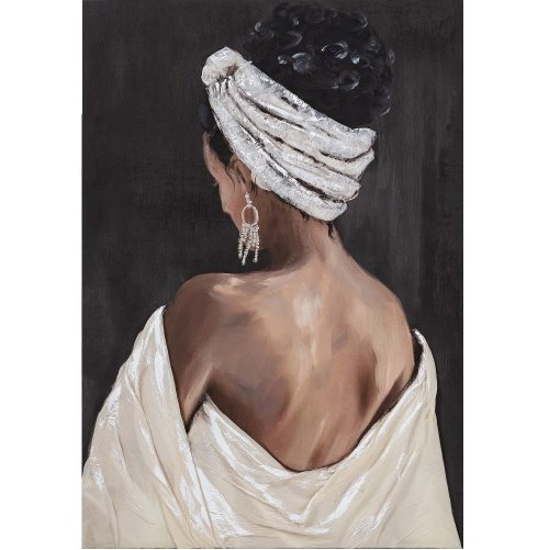 Schilderij back view woman
