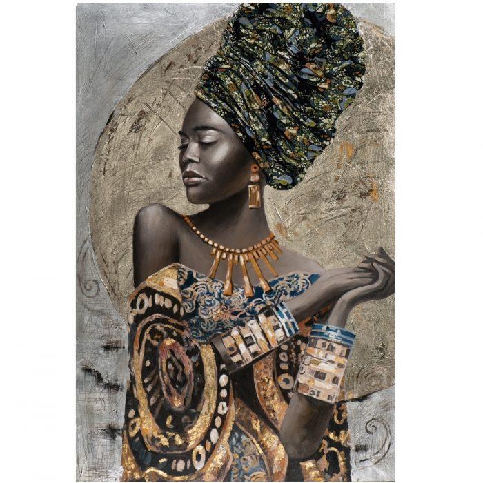 Prachtig schilderij Afrikaanse vrouw