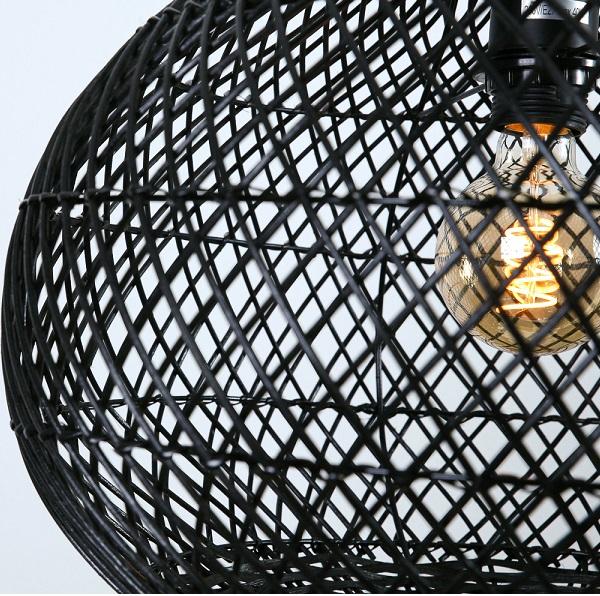 rotan lampenkap zwart